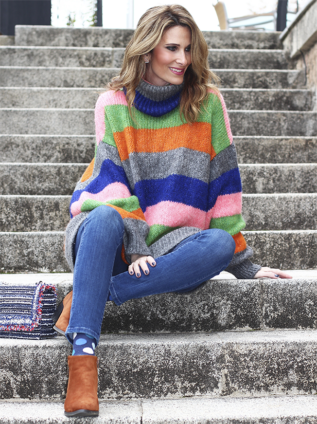 Jersey de rayas multicolor de Con paso chic