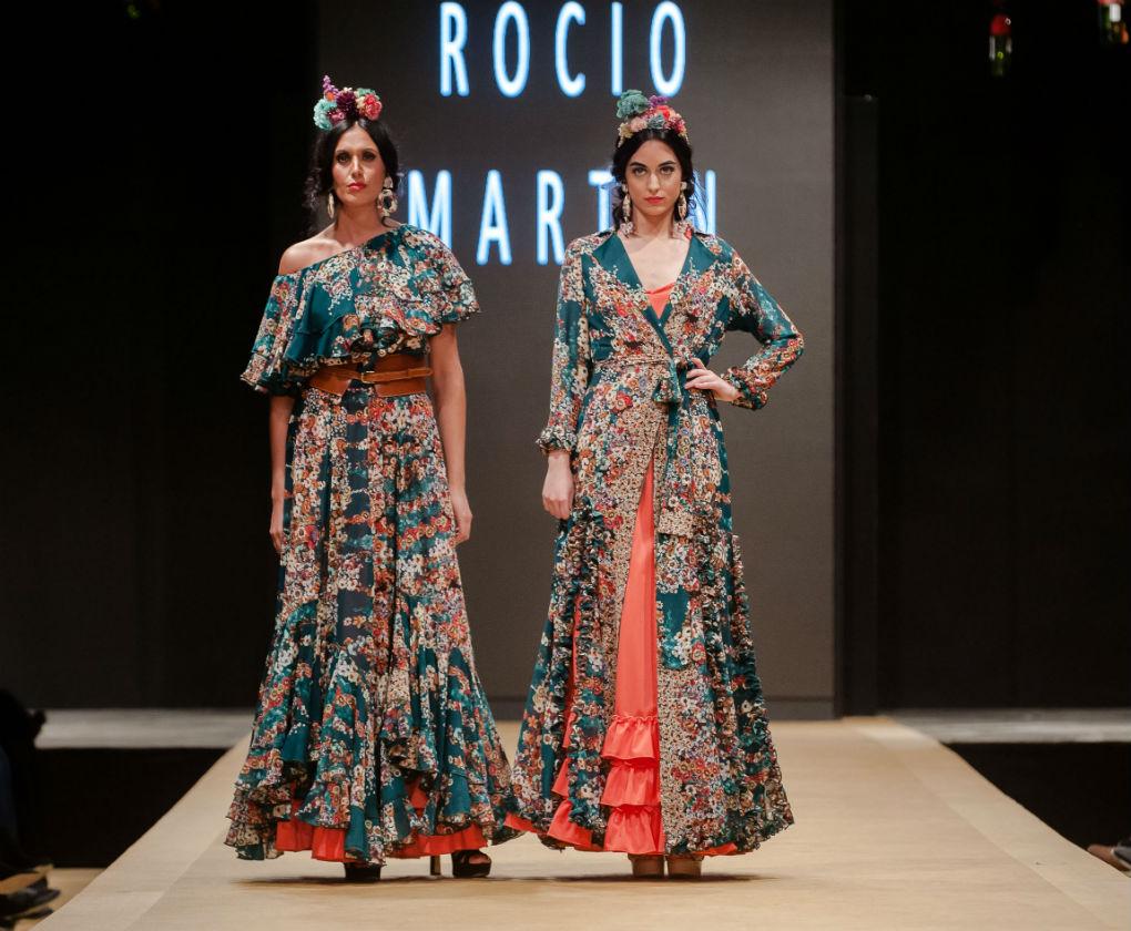 Pasarela Flamenca de Jerez, desfile de Rocío Martín Degitana con moda flamenca 2018. Foto: Christian Cantizano