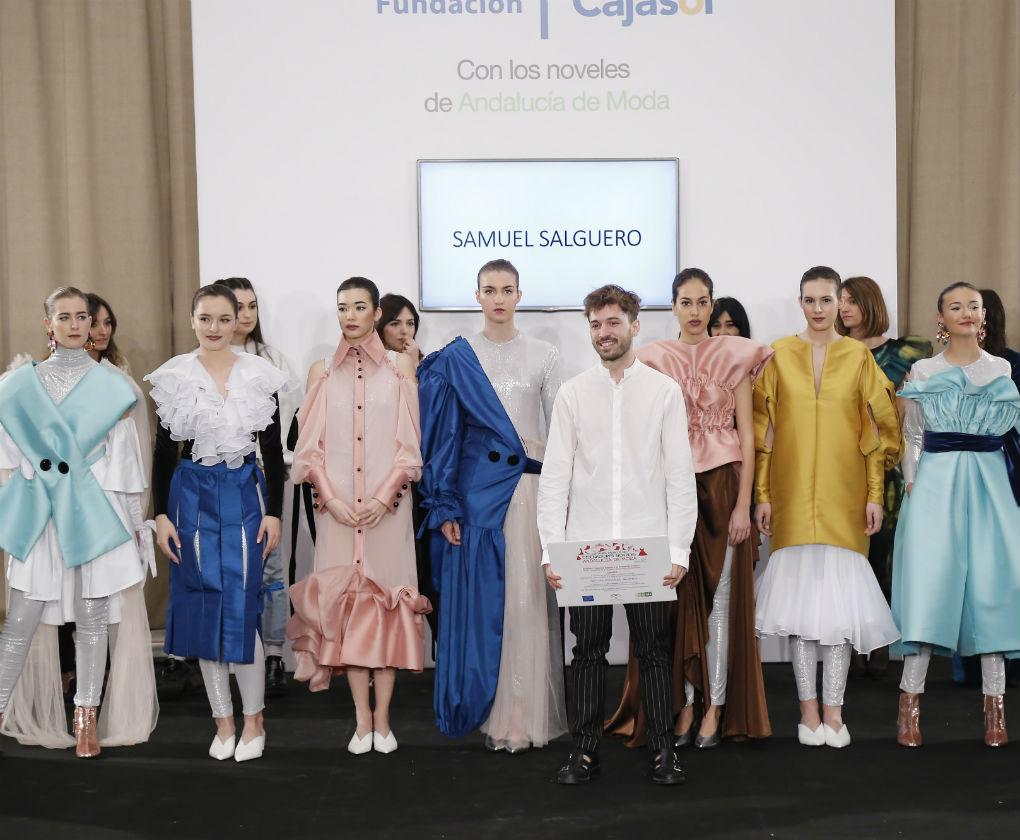 Samuel Salguero ha sido el ganador del certamen de diseñadores noveles de Andalucía de Moda. Foto: Chema Soler