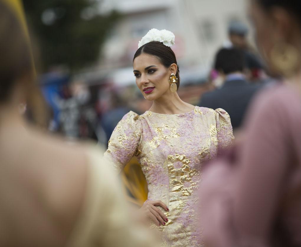 Feria de Abril 2018. Flamencas vistas por el Real de la feria el domingo 15 de abril. Foto: MJ López