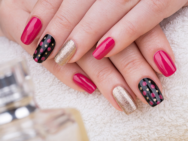 manicura accent nails