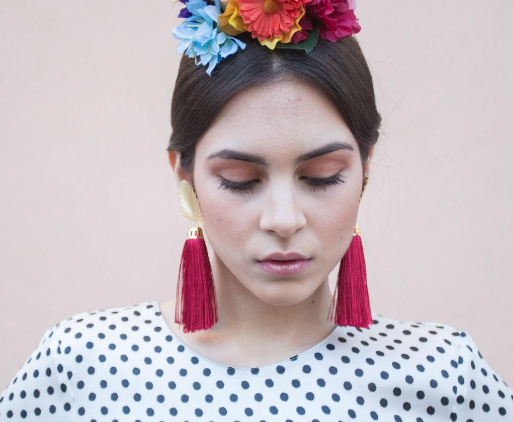 Maquillaje natural en tonos rosados para la Feria de Abril 2018. Foto: Vanessa Gómez