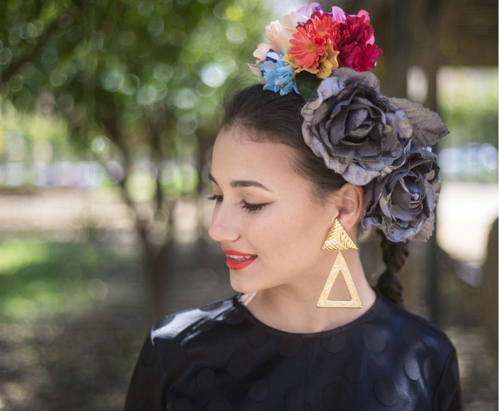 Maquillaje para la Feria de Abril con eyeliner protagonista. Foto: Vanessa Gómez