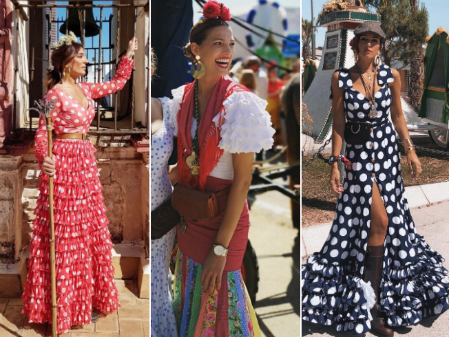 Famosas y sus trajes de flamenca en El Rocío 2018