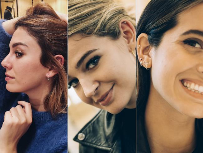 Tendencias de los piercings en la oreja