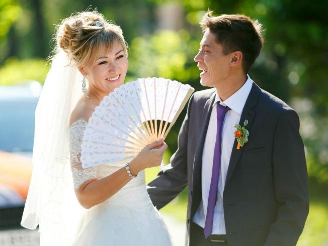 Abanicos para novias