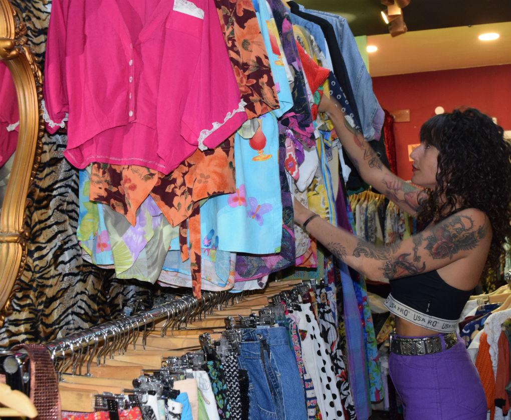 Wonder Vintage, la tienda de moda vintage de Mercedes Muñoz en Sevilla. Foto: Rocío Ponce