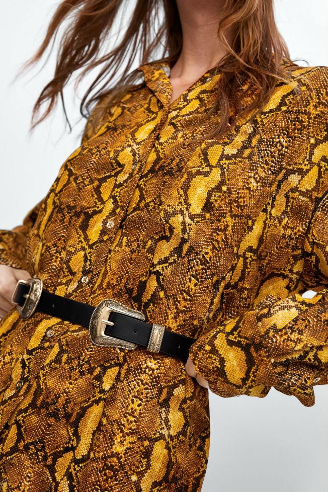 Cinturón de hebilla doble de Zara