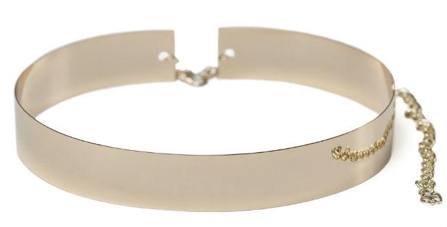 Cinturón rígido metálico dorado de Patricia Bazarot
