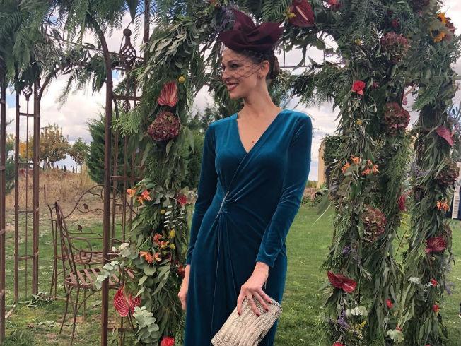 Eva González en una boda