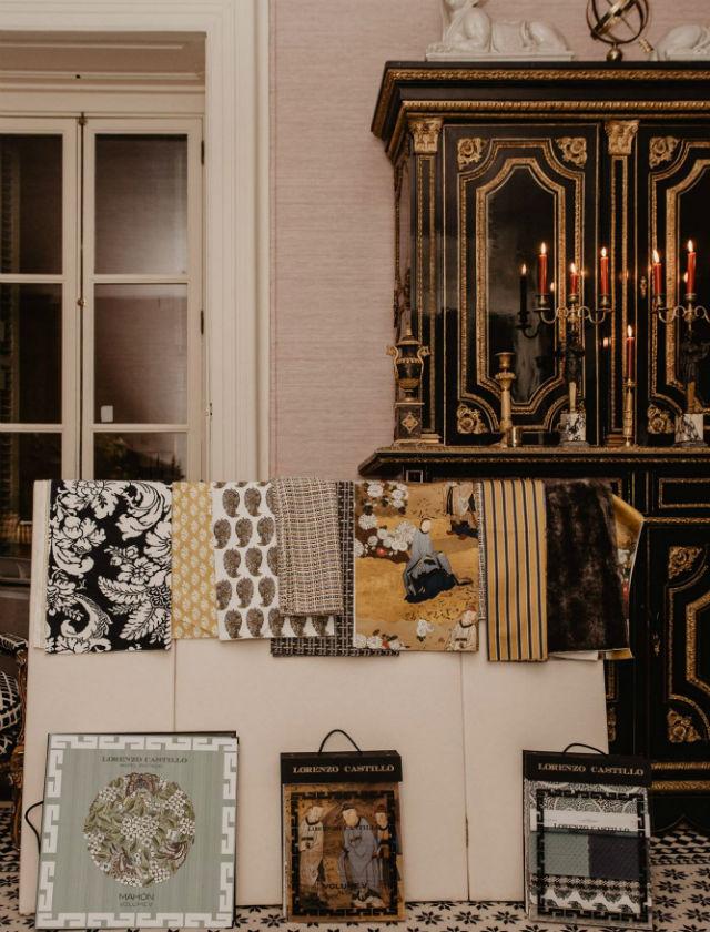 Presentación de la nueva colección de Tejidos diseñados por Lorenzo Castillo para la firma Gastón y Daniela