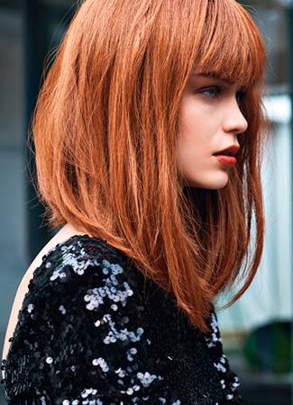 Corte de pelo corto para cara larga