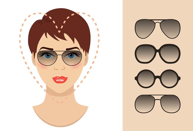Gafas para rostro corazón