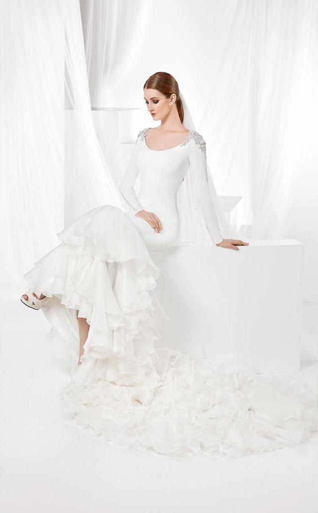 fran sarabia vestidos novia corte flamenco
