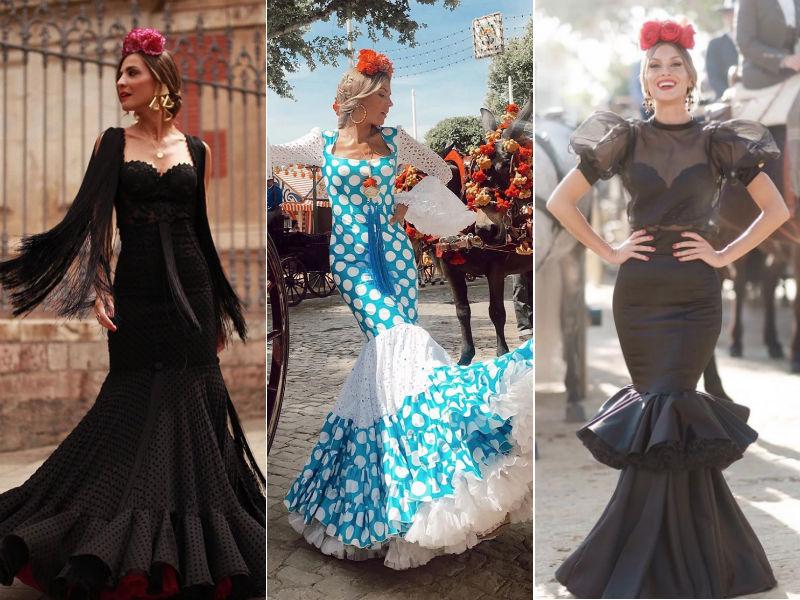 8bb510f70 Así son los trajes de flamenca de las influencers en la Feria de ...