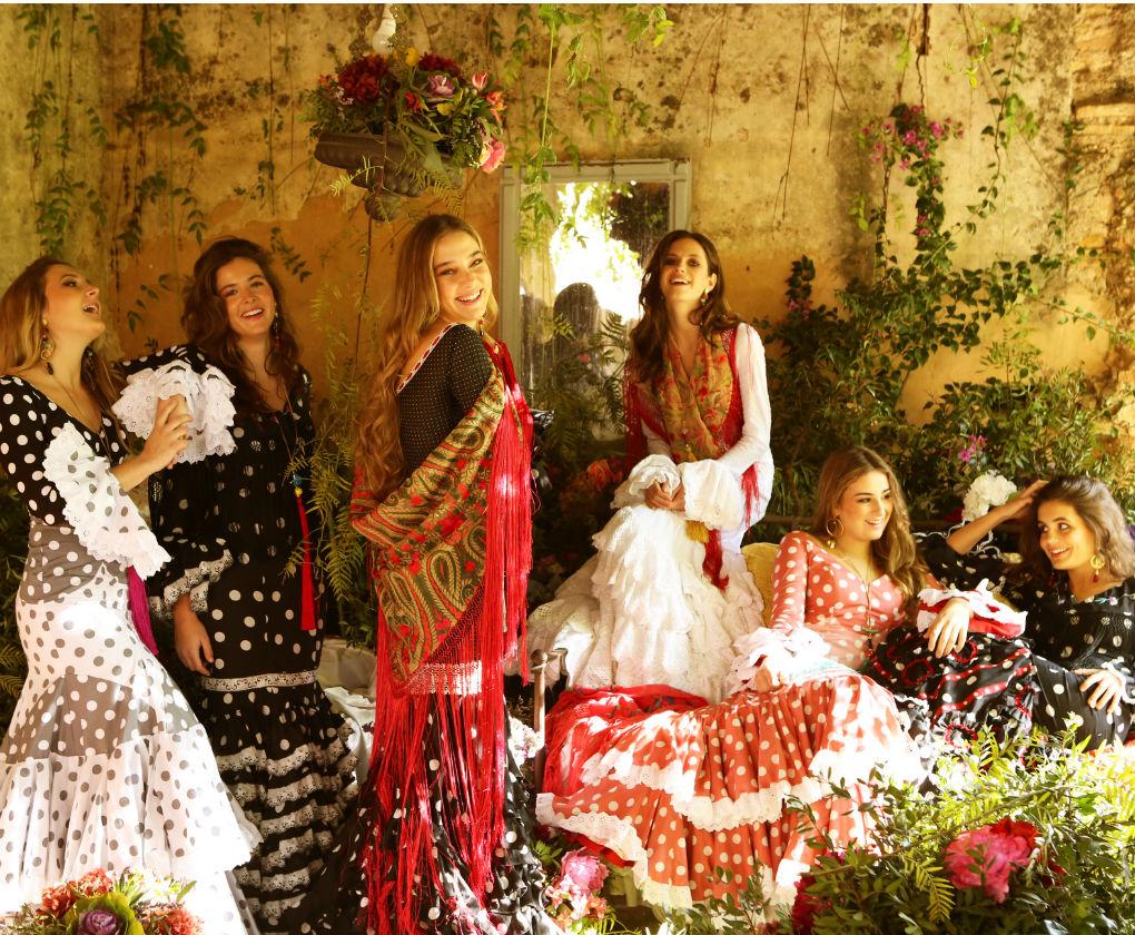 Fotos de inspiración de la colección de moda flamenca 2019 de Flamenca Pol Núñez. Foto: Jesús Isnard
