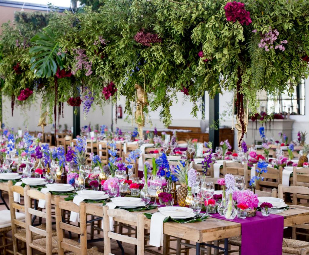 Decoración de las mesas de boda de Mirka Eventos. Foto: Couche