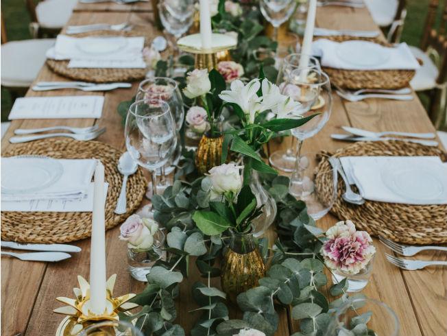 Decoración de las mesas de boda de Mirka Eventos. Foto: Azul Roto