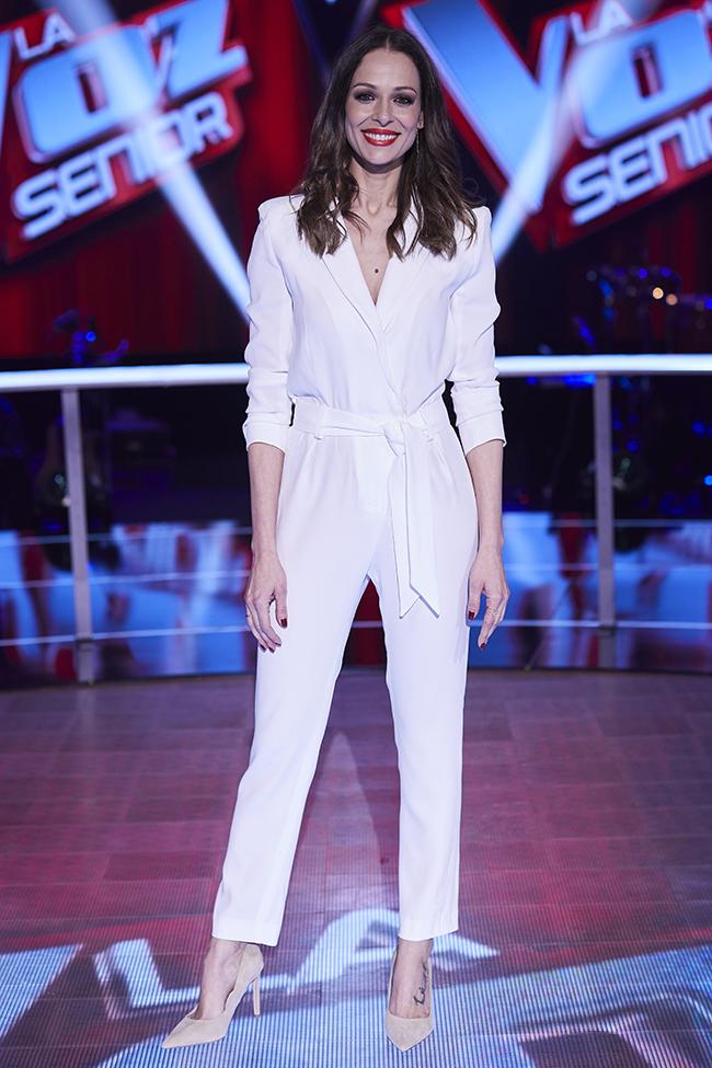 "Presenter and former model Eva Gonzalez during promotion tv show "" La voz senior "" in Madrid on Wednesday , 06 February 2019"
