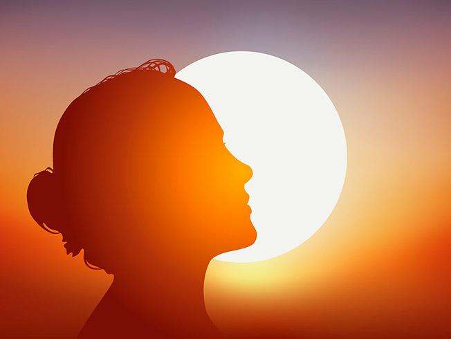 manchas en la cara del sol
