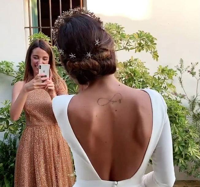 Peinado de Rocío Osorno para su boda