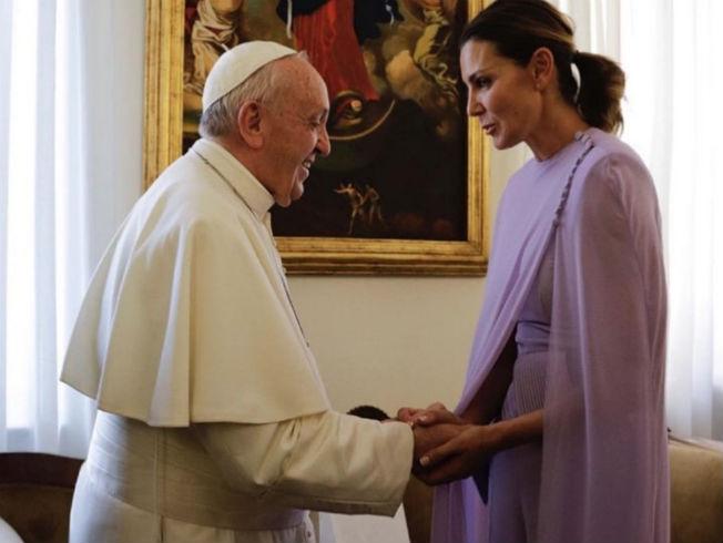 Mar Flores en audiencia con el Papa Francisco. Foto: Instagram