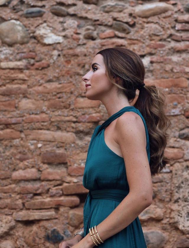 Patricia García de Paredes con vestido de Oysho