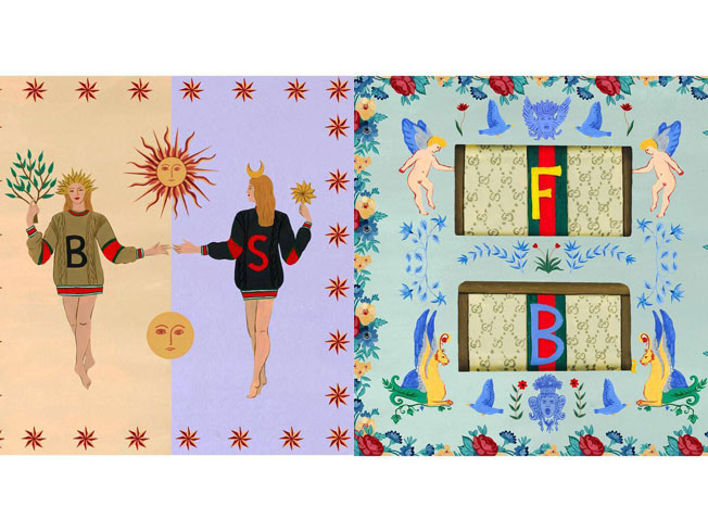 Brianda Fitz-James vuelve a colaborar con Gucci con sus ilustraciones