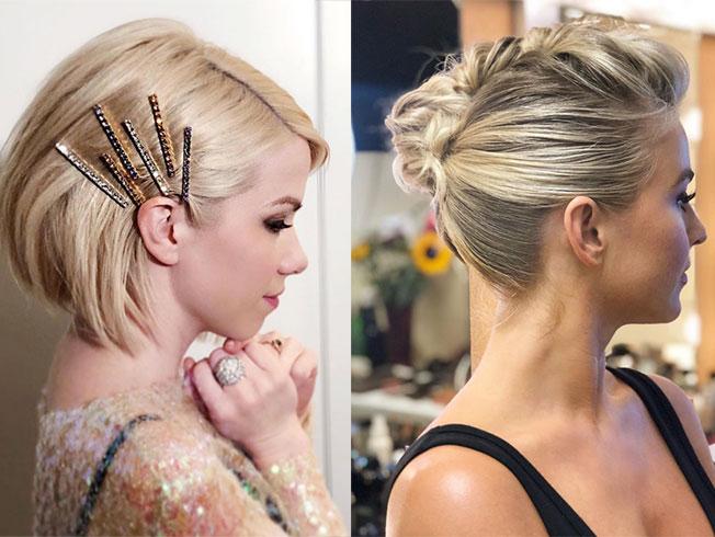 Peinados para novias con melenas «bob»