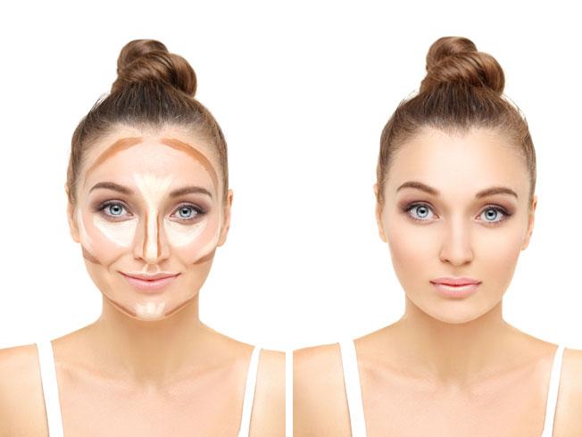 Trucos de maquillaje para adelgazar el rostro