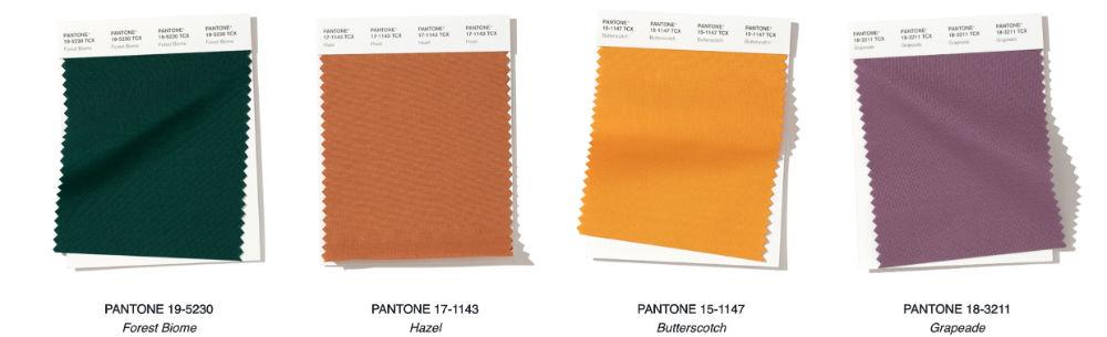 Colores de Pantone para otoño-invierno 2019/2020