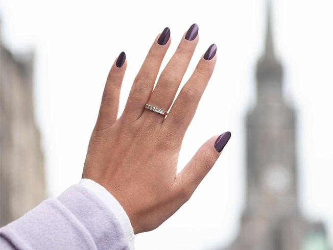 ideas de manicuras para novias de invierno