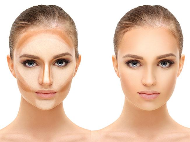 maquillaje adelgazar rostro