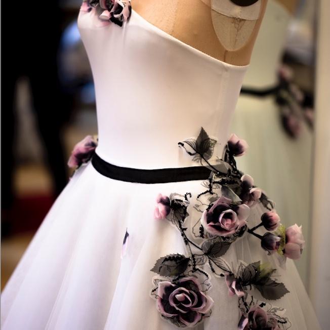 flores boradadas chanel opera paris