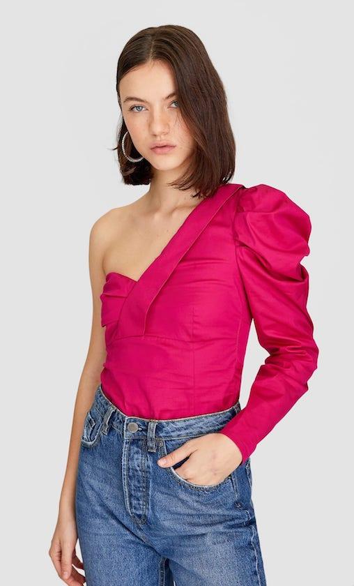 tendencia mangas abullonadas camisas tops blusas
