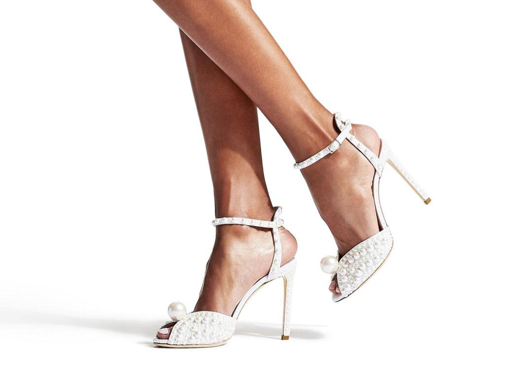 zapatos con perlas novia