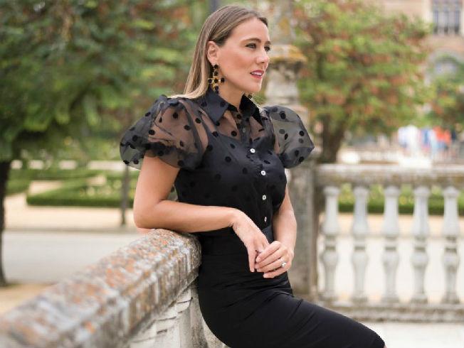 Blusa de organza, tendencia de moda para la Navidad 2019