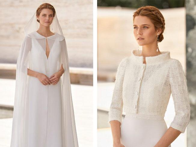 Prendas de abrigo para las novias que aplazaron su boda al otoño
