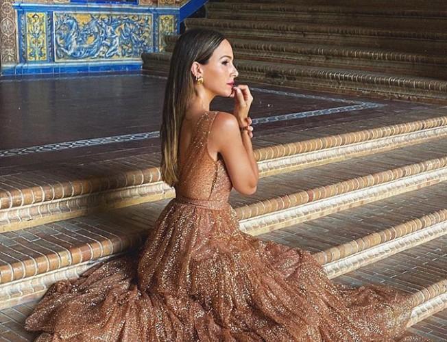 Rocío Osorno con vestido de invitada
