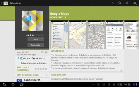 Google Maps en el Android Market