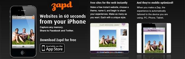 Crea tu propia web de un modo rápido y sencillo usando Zapd para iOS