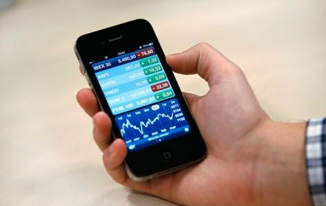 Abrir la apliación nativa de Apple pra iPhone sobre la Bolsa