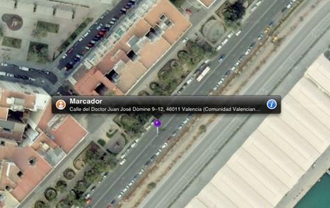 Marcador para Street View en iOS