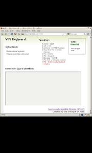 Página de escritura de WifiKeyboard