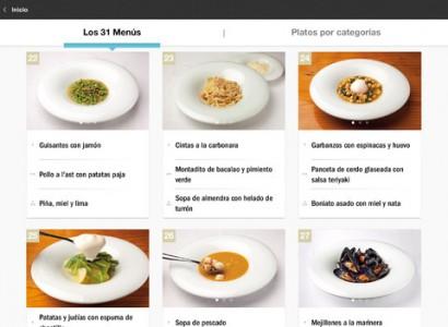 Adri en casa una aplicaci n con las recetas de ferr n for Ferran adria platos