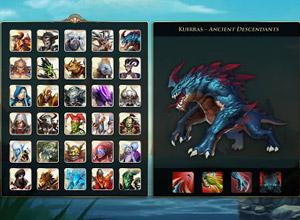 Selección de personaje en Heroes of Order & Chaos