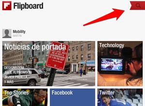 Cómo importar tus feeds de Google Reader a Flipboard en dispositivos iOS, pulsa-icono-lupa