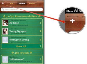 Cómo agregar amigos a Game Center en iPad o iPhone, paso 3