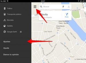 Cómo descargar mapas para utilizar Google Maps sin conexión a internet, menu-ajustes
