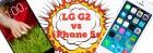 Comparativa del LG G2 frente al iPhone 5s